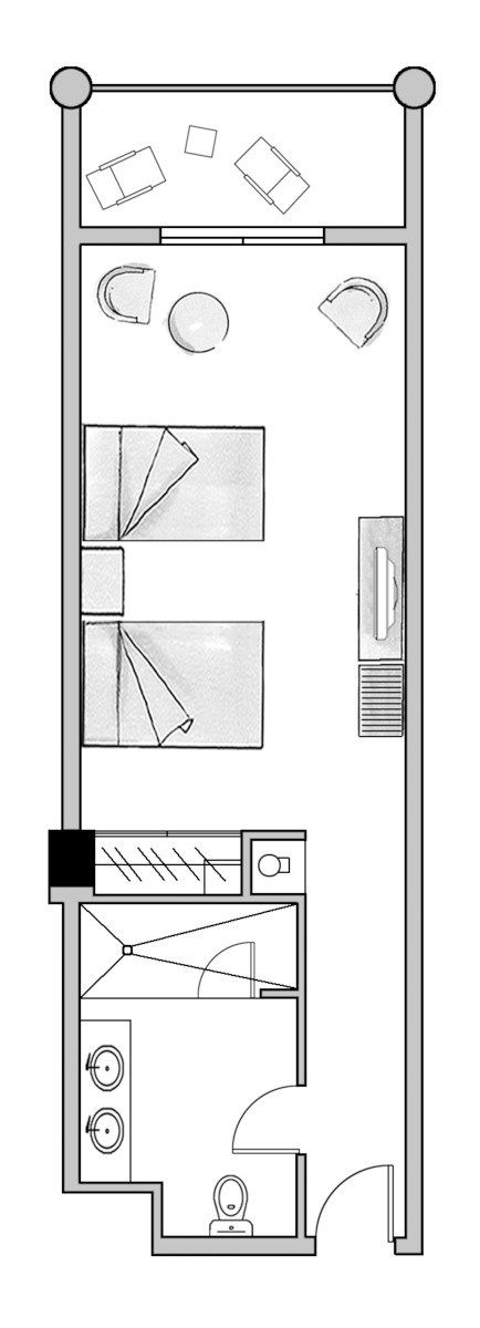 Wohnbeispiel Juniorsuite Lateral Seaview(Modellbild)