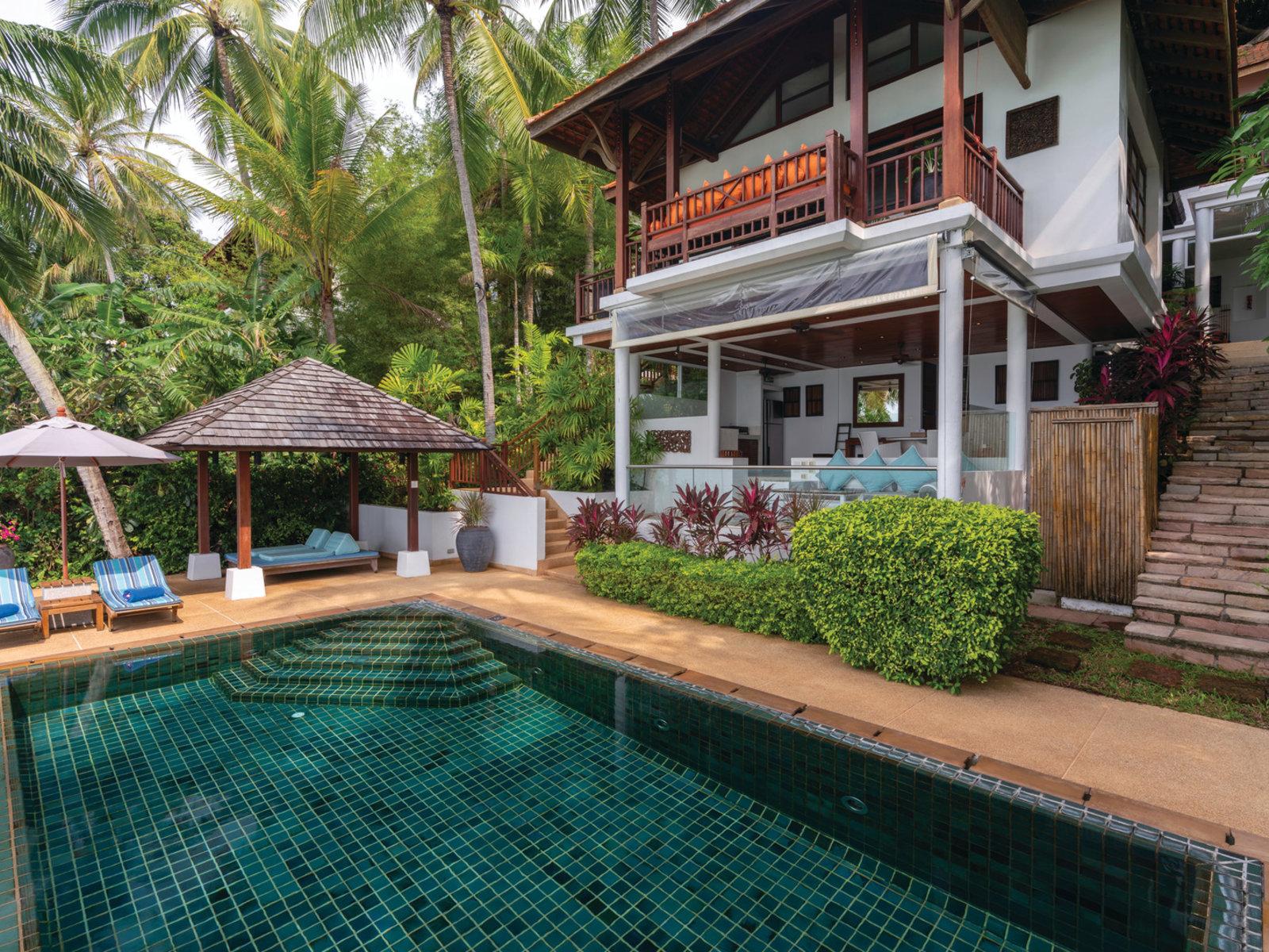 Wohnbeispiel One Bedroom Oceanfront Pool Residence