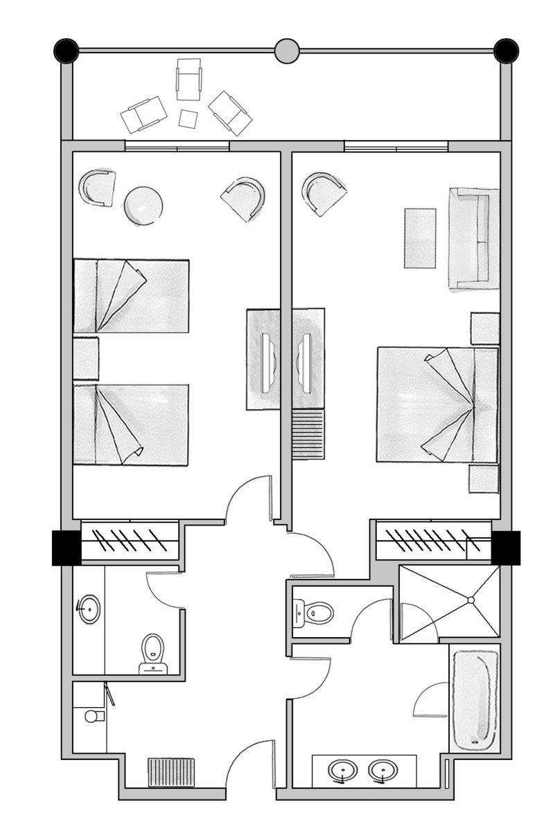 Wohnbeispiel Family Suite(Modellbild)