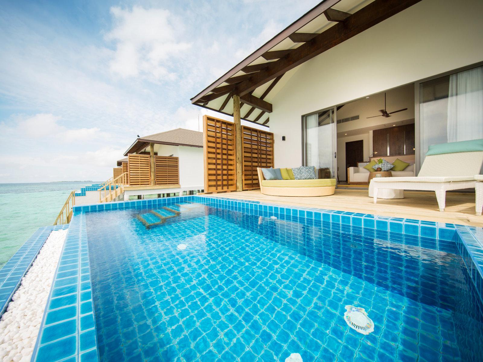 Wohnbeispiel Wasserbungalow mit Pool