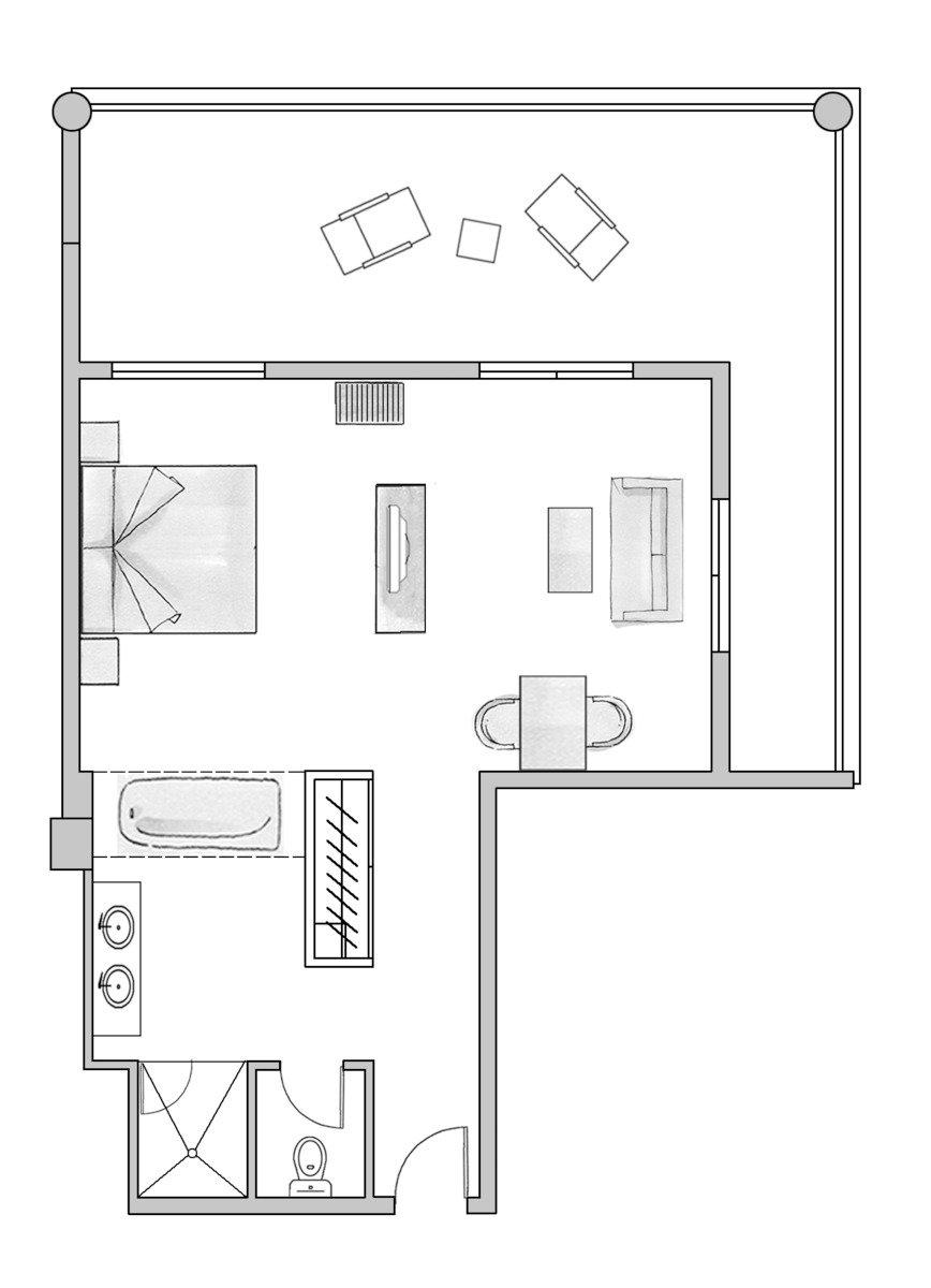 Wohnbeispiel Suite Seaview(Modellbild)