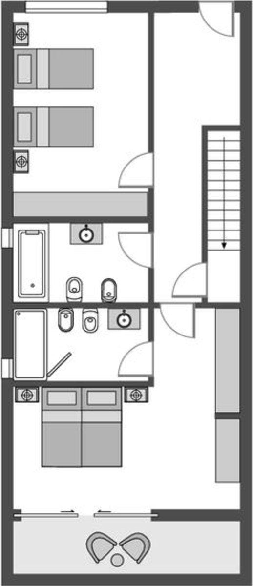 Grande Deluxe Garden House/ Ocean House Seaview Erdgeschoss