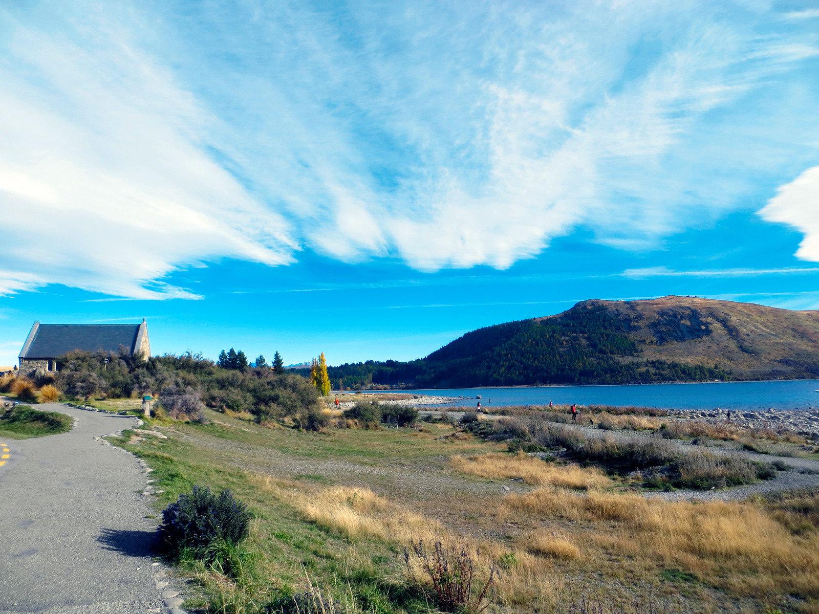 Lake Tekapo mit Church of the Good Shepherd