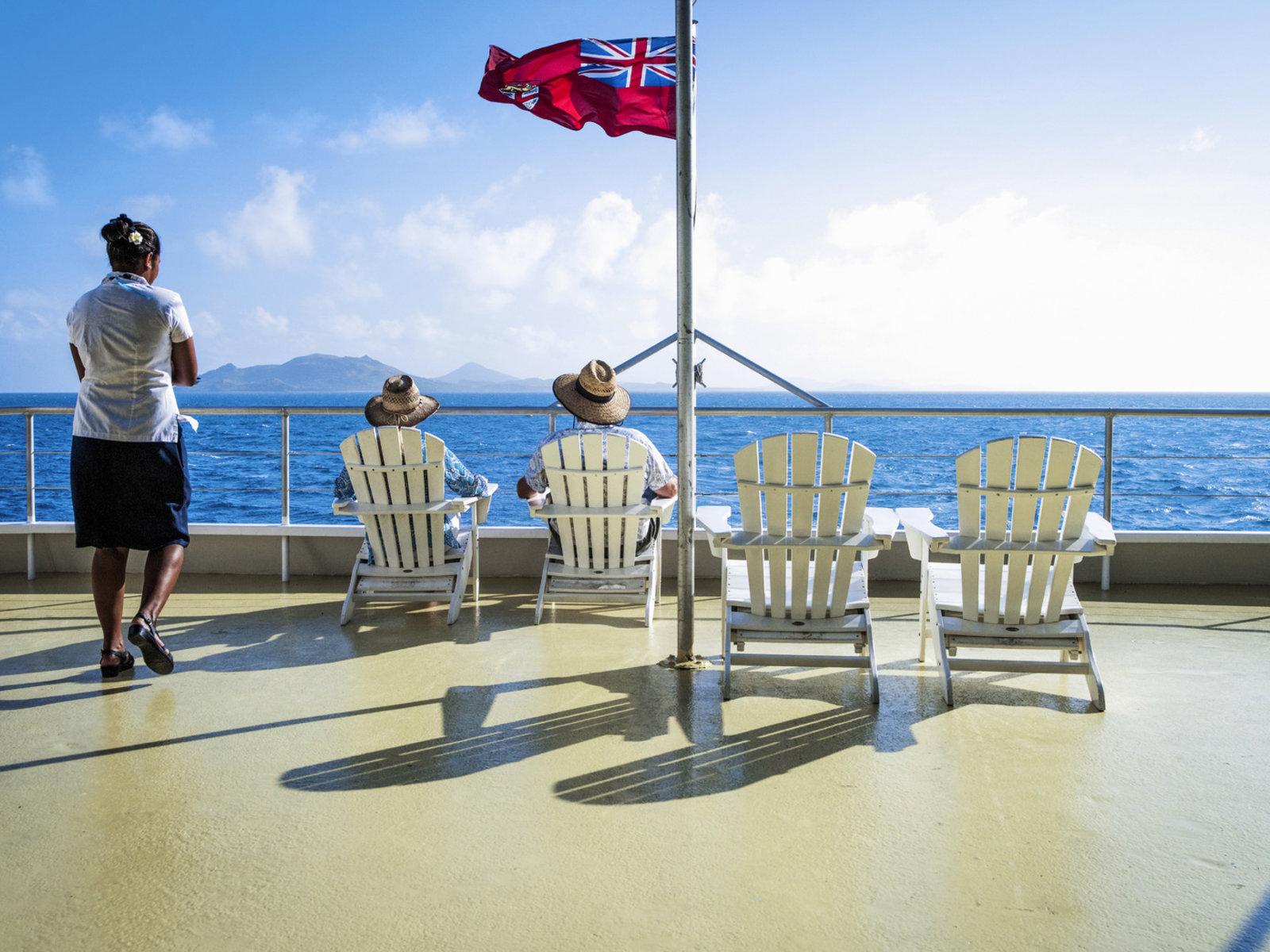 an Deck der Fiji Princess