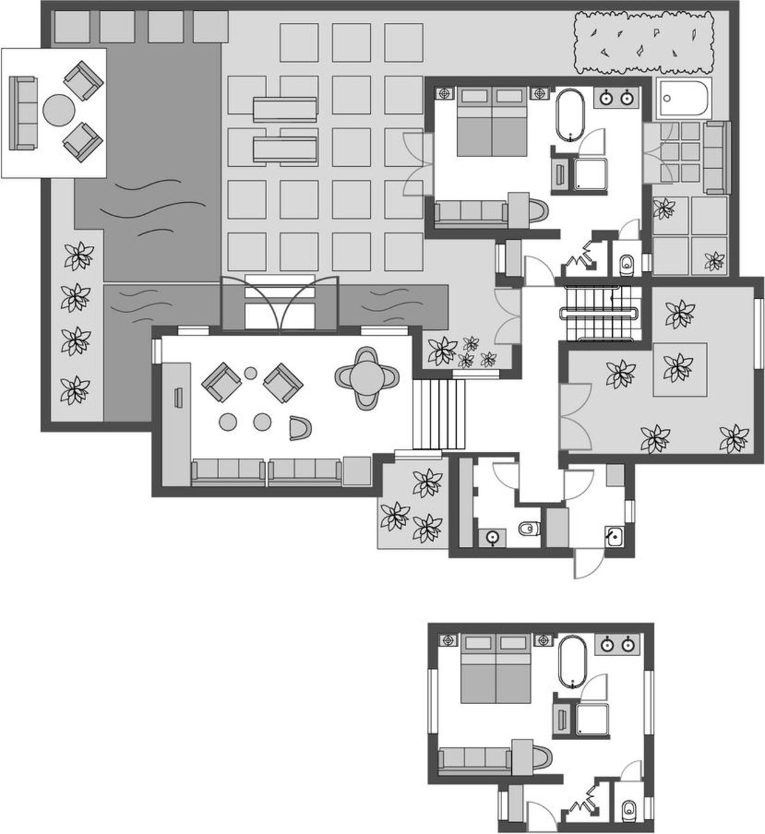 Garden Pool Villa 2 Bedroom/ Beachfront Pool Villa 2 Bedroom