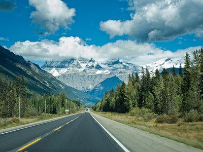 Icefield Parkway zwischen Jasper und Banff