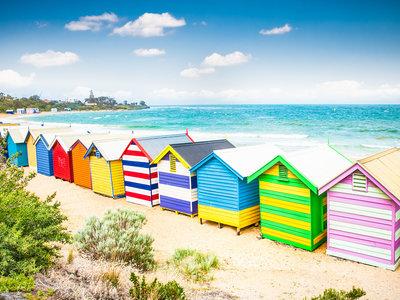 Badehäuschen am Brighton Beach, Mebourne