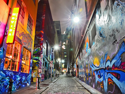 Bunte Graffitti, Hosier Lane, Melbourne