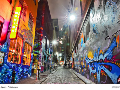 Bunte Graffitti, Hosier Lane, Melbourne © Javen - Fotolia.com