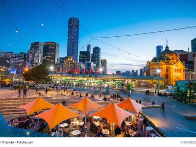 Melbourne, Skyline in der Abenddämmerung © f11photo - Fotolia.com