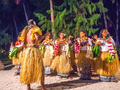 Einheimische Tanzvorführung